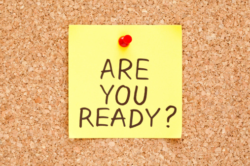 are you ready written on a post it note