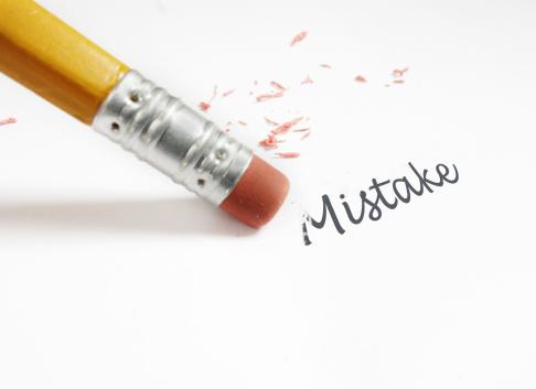 pencil erasing word mistake