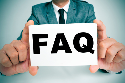 FAQ on index card