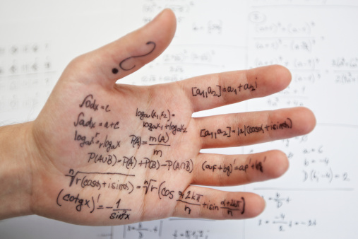 cheat sheet - writing on hand