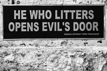 he who litters