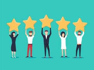5 start customer rating - shutterstock_1052091551