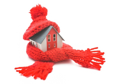 home wrapped in hat and scarf