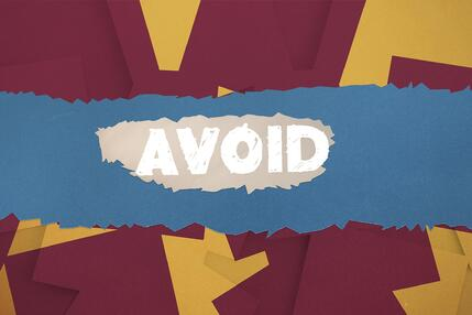 the word avoid on paper