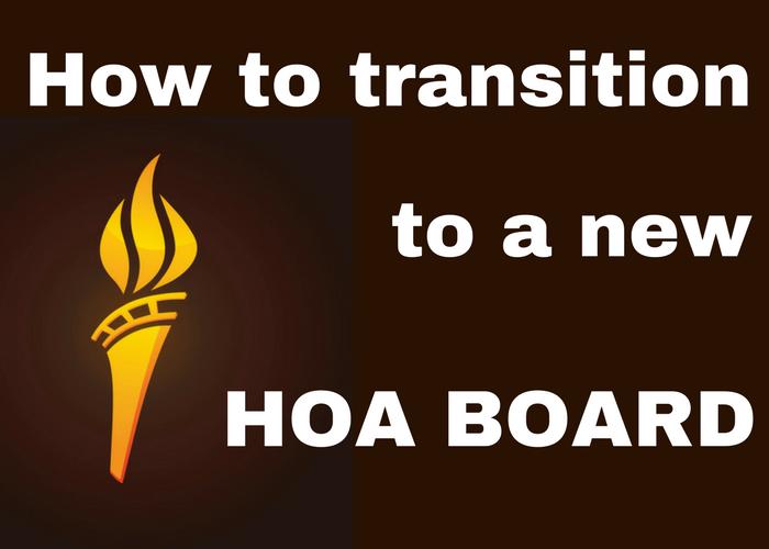 HOA Board Transition